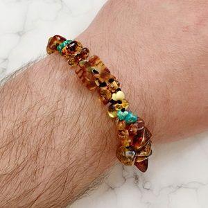 Other - 🦕🦖Amber/Turquoise Bead Bracelet: Jurassic World